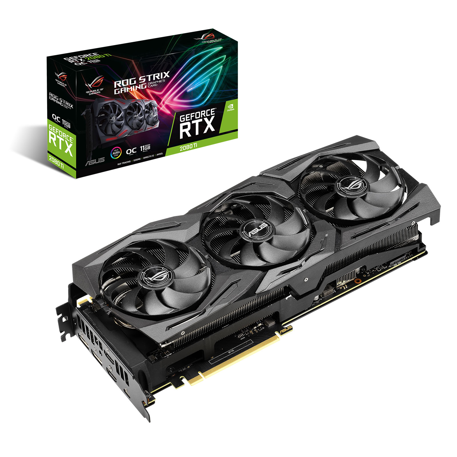 Graphic Card Asus ROG-STRIX-RTX 2080TI -11G GAMING 3 years warranty