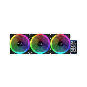 Case Fan Aerocool Orbit RC RGB (3X Dual Ring Fans + Remote Controller)
