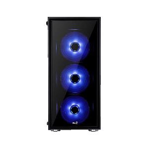 Case Aerocool Quartz Blue/Red w/ Tempered Glass Full Window