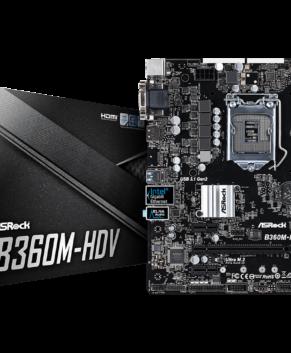 MotherBoard Asrock B360M-HDV  90-MXB730-A0UAYZ 5 Years Warranty