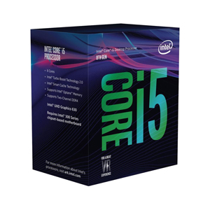 CPU Intel Core i5-8400 9 MB SmartCache 6 Cores/12 Threads 4.00 GHz Max Turbo Frequency