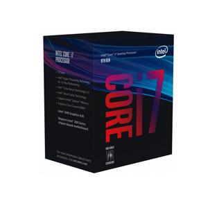 CPU Intel Core i7-8700 12 MB SmartCache 6 Cores/12 Threads 4.60 GHz Max Turbo Frequency