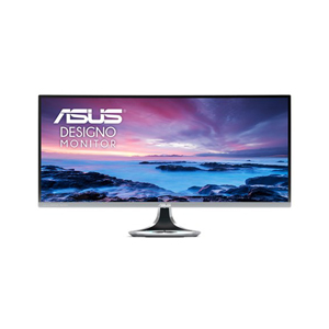 Monitor ASUS Screen Designo Curve MX34VQ Ultra-wide Curved Monitor – 34 inch, UWQHD, 1800R Curvature, 100Hz, Frameless, Qi Wireless Charger, Audio by Harman Kardon, Flicker Free, Blue Light Filter