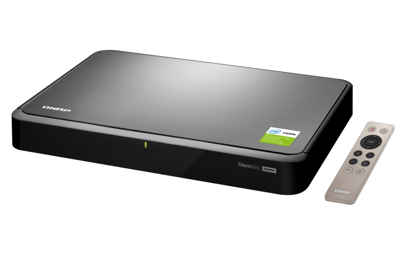 HS-251+ QNAP TurboNAS Home/SOHO Series Silent, fanless NAS with HDMI output  for best audiovisual experience