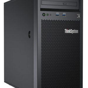 Server Lenovo ThinkSystem 1-Socket Tower Server ST50 7Y48A007EA ST50 Intel Xeon E-2124G (4C 3.4GHz 8MB Cache/71W), 8GB(1x8GB, UDIMM), 2x2TB SATA HDD,  SATA RAID, 1x250W, AMT, Slim DVD-RW, 3 yr Warranty