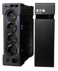 UPS  EL1200USBDINEaton Ellipse ECO 1200 DIN USB, 1200VA / 750W, Rack / Tower, 4 outlets with battery backup and surge protection + 4 outlets with surge protection, USB port with included USB cable, Eaton Intelligent Power software, Surge protection, 2 Years Warranty (Including Battery)