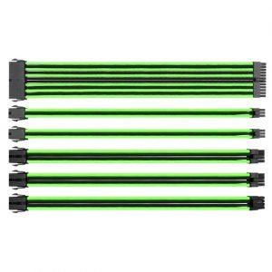 ThermalTake TtMod Sleeve Cable – Green/Black - 300 mm - Blue/Black - 300mm -  Orange/Black - 300mm - Red/Black - 300mm