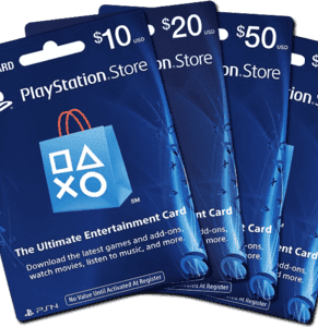 Playstation Store gift cards 10$ Value