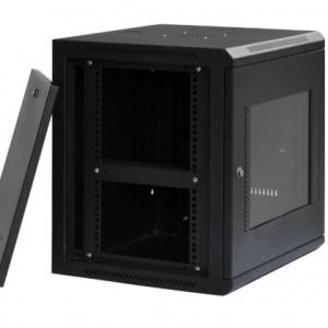 Server Cabinet Eusso MS-EJS6818-GM 18U W600*D800 Door Type Front Glass - Rear Metal 4 Cooling Fans + 1 Fixed Shelf
