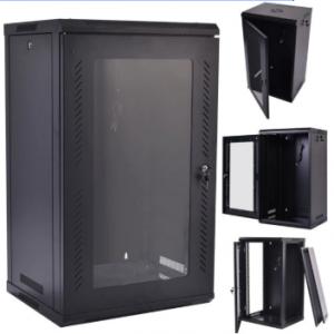 Server Cabinet Eusso MS-EJS6027-GM 27U W600*D1000 Door Type Front Glass - Rear Metal 4 Cooling Fans + 1 Fixed Shelf