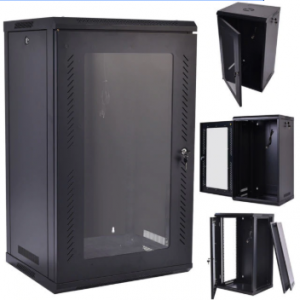 Server Cabinet Eusso MS-EJS6827-GP 27U W600*D800 Door Type Front Glass-Rear Perforated 4 Cooling Fans + 1 Fixed Shelf