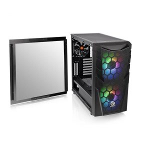 Case Commander C 32 Dual 200MM ARGB Fans Tempered Glass ATX Mid-Tower Chassis CA-1N3-00M1WN-00