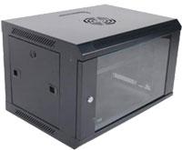Eusso Wall Mount Cabinet MS-EWM6606B 6U Dimensions W600*D600 Door Type Front Glass - Rear Metal 1 Cooling Fan