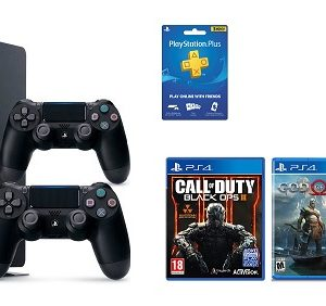 Sony PS4 Bundle : Console 500 GB / 2 Controllers / 3 Games