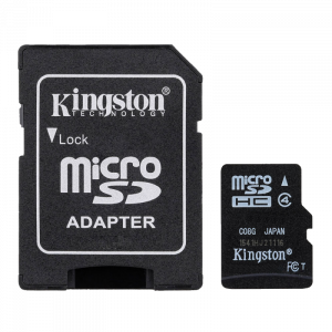 Kingston Micro SD Class 4 microSDHC Class 4 Flash Card + SD Adapter
