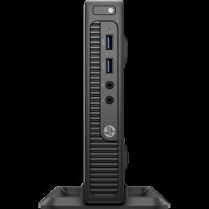 Branded Desktop HP 260 G2 Desktop Mini PC(2KL49EA)Core i3-6100 (2.3 GHz, 3 MB cache, 2 cores)Intel4GB DDR4 1Dimm 2133Hz500 GB 7200Intel HD Graphics 520No DVDDMFreeDOSKey+Mouse