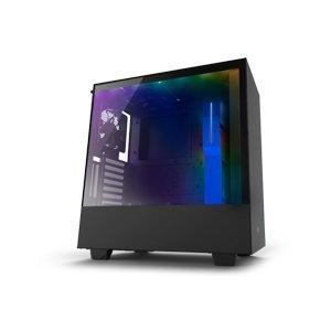 Desktop Case NZXT H500i CA-H500W-BL Smart Case Matte Black+Blue