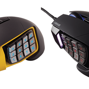 Corsair Gaming Scimitar Pro RGB - Black-Yellow - Optical - 16000DPI CH-9304011-EU