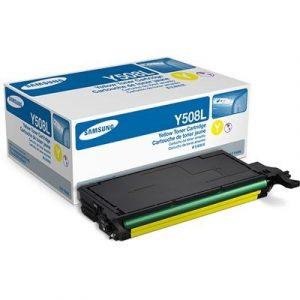 Samsung Toner CLT-Y508L/SEE SU534A 4K, Toner Cartridge for CLP-620/670, CLX-6250FX/6550FX