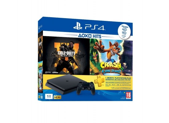 Sony Play Station 4 PS4 1TB 1 controller 2 games 1 month free account
