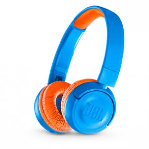 JBLJR300BTUNO JBL JR300 wireless headphone for kids Blue&Orange