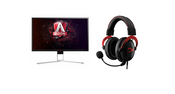 Gaming Accessories Offer : Monitor AOC 240hz / Hyperx Headset Cloud II