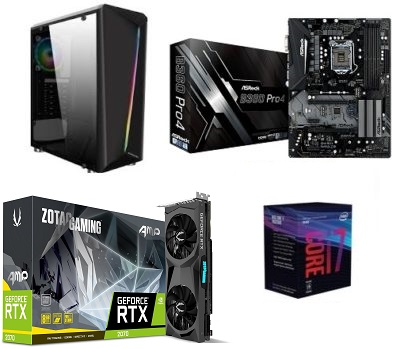 Gaming PC Offer : Xigmatek Case RGB / i7 8th / b360 board / RTX 2070 / 480GB storage / 16GB RAM / 700w PSU