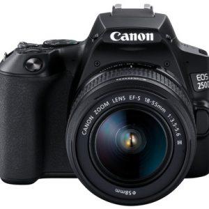 Canon Camera EOS 250D Black 18-55 DC2250C011AA BT-WIFI bundled SD16GB+Case No DISCOUNT 243.0