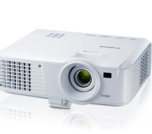 Canon Projector LV-X320	compact XGA portable projector, resolution (1024 x 768 pixels), 3200 lumens brightness and 10,000:1 contrast ratio delivers clear, vibrant images, 5000h lamp life (6000h in Eco Mode)