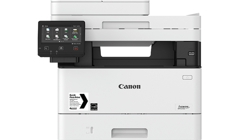 Canon Laser - 3 in 1 MF421dw Print/Copy/Scan, 38PPM, single pass dupplex  ADF, duplex printing, 12 7cm LCD color touch screen, 50 sheet ADF, 250  sheet