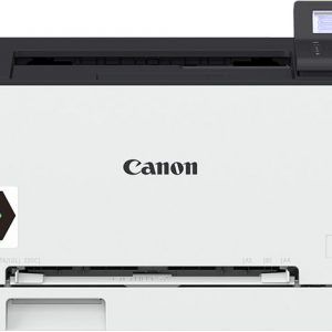 Canon Color Laser - Single Function LBP611CNcolour laser printer, 18 PPM Black and color, Up to 1200 x 1200 dpi print quality, USB 2.0, 150-sheet cassette,Duty cycle 30,000 pages per month, 1GB memory, Network, e-maintenance.