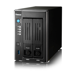 Thecus Storage N2810PLUS	2-BAY SOHO NAS : INTEL CELERON PROCESSOR N3150 (1.6 BURST UPTO 2.08 GHZ QUAD CORE),4GB DDR3 SDRAM,USB 3.0 X 3, HDMI X 1, VGA X 1
