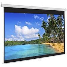 SkyPro Screen for  Projectors Electric Projector Screen 180cm x 180cm -- SP-ELC180 With RF Remote Control