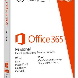 Microsoft Office 365 Personal ( 1 for PC OR MAC + 1 for Tablet or smartphone)