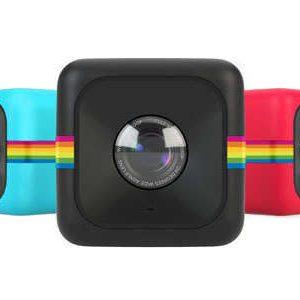 POLCUBPLUSBUNDLER  Polaroid cube PLUS action cam red  + 3 accessories