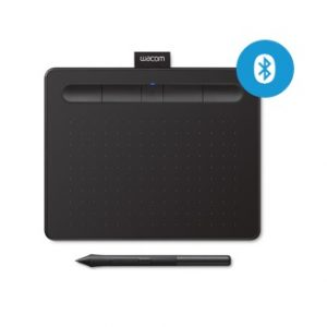 Wacom Tablet CTL4100WLK0 intuos Bluetooth Creative Pen Tablet ( Small, Black) WCMICPSBB