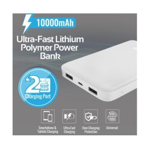 Pro Mate PowerBank 10,000 mAh with Ultra-Fast lithium polymer