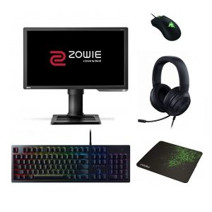Gaming Accessories Offer : BenQ Screen Zowie Gaming XL2411p 24″ Wide LED 144Hz 1ms / Razer Set Mouse, Mouse Pad, Keyboard, Headset
