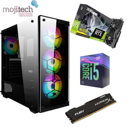 Gaming Desktop Offer : CPU Intel 9400F / B360m Asrock MotherBoard / SSD 240GB / 16 GB RAM 2666Hz Hyperx / Zotac 2070 Super Graphic Card  / 650W Aerocool PSU  / Case Venom  RGB
