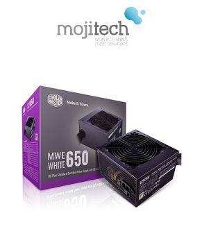 Cooler Master MWE White 650 80+ White 650W PSU with HDB Silent 120mm Fan, Single +12V Rail, Flat Black Cables
